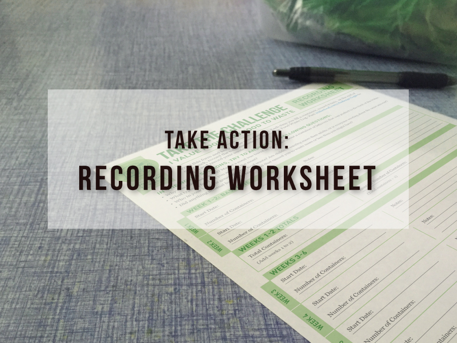 Recording Worksheet